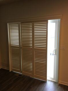 Eclipse plantation bypass shutter door