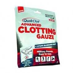 Need one in every GoBag for a family member on blood thinners. QuikClot Advanced Clotting Gauze 3 x 24 Inch Doomsday Prepping, Survival Prepping, Survival Skills, Survival Gear, Survival Stuff, Emergency Supplies, Survival Supplies, Emergency Bag, Bug Out Bag