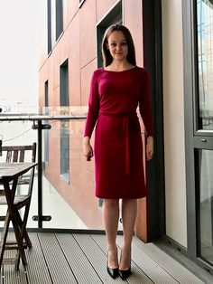 Diary of a Chain Stitcher: Named Kielo Wrap Dress in Fuchsia Merino Jersey from The Fabric Store