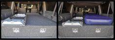 DIY sliding drawer system for Toyota Landcruiser 100 series