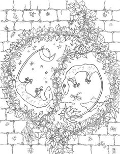 Lizard Yin Yan Downloadable Coloring Sheet By ColleenPatricia On Etsy