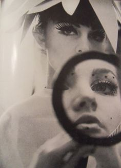 Charlotte March via International Photography Year Book, Love with this makeup look. Monochrome, Art Photography, Fashion Photography, Foto Real, Tim Walker, Black White, Through The Looking Glass, Mirror Image, Vintage Beauty