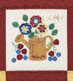Watering Can Quilt Block | Quilting Crafts | Quilt Patterns — Country Woman Magazine