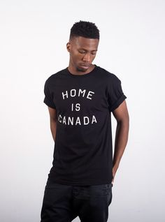Home is Canada Tee - Black