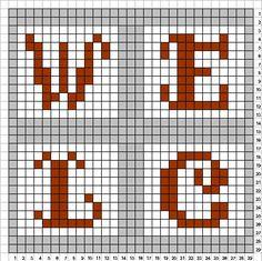 Welcome sign perler bead pattern (1/2) by uykkk