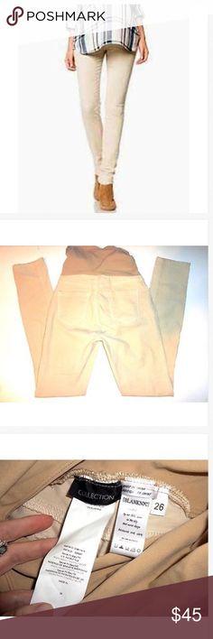 A Pea in the Pod BLANK NYC Skinny Maternity Pants Adorable A Pea in the Pod BLANK NYC Tan Corduroy Skinny Stretch Maternity Pants! 26 x 30 NWOT! 13 across & 5.5 rise 84% nylon & 16% spandex Blank NYC Pants Skinny