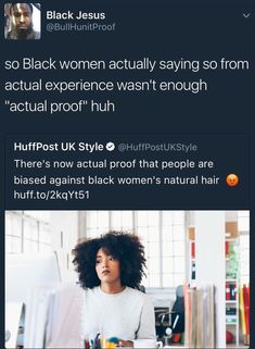 I personally love the natural hairstyles I think they look beautiful. Are people biased against it because it makes them look stronger? I don't know, but fuck those people. Black Power, Pray For Venezuela, By Any Means Necessary, Natural Hair Styles For Black Women, Anti Racism, Intersectional Feminism, Equal Rights, Faith In Humanity, Professional Hairstyles