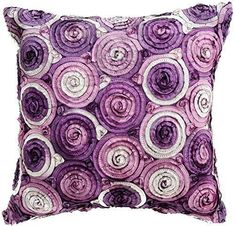 Purple throw pillows are super cute, beautiful and  stylish. Use on beds and couches to  create a calm and relaxing vibe especially in your living room or bedroom. Indeed, Purple accent pillows along with  other purple home décor accents make for beautiful purple home decorated room  or home.      Avarada 16x16 Inch (40x40 cm) Triple Colour Floral Bouquet Decorative Throw Pillow Case Cushion Cover for Sofa Couch Chair Bed Insert Not Included Zipper Purple