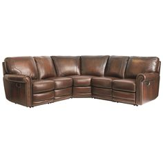Hamilton 3958 Reclining Sectional by Bassett  sc 1 st  Pinterest : thomasville leather sectional - Sectionals, Sofas & Couches