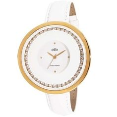 Roposo.com - Latest pu-leather round-dial analog-watches best for evenings online elite models fashion women&039s watch