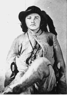 One of Quantrill's raiders. Note the two pistols worn backwards in the holsters, says something about the man.
