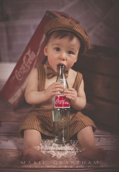 Vintage Coca-Cola baby photo session ideas! www.mariegranthamphotography.com photos by: Marie Grantham