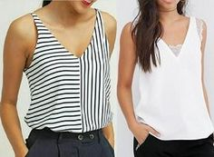 Gegoma : LiveInternet - Российский Сервис ОнРDress Sewing Patterns, Blouse Patterns, Blouse Designs, Crop Top Und Shorts, Crop Tops, Sewing Pants, Sewing Clothes, V Neck Blouse, Casual Tops