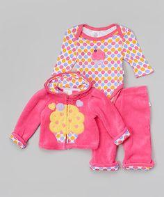 Duck Duck Goose Pink Ice Cream Zip-Up Hoodie Set - Infant by Duck Duck Goose #zulily #zulilyfinds