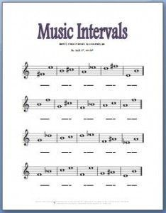 Fun interval worksheet for young students! | Intervals | Pinterest ...
