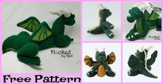 Cute Crochet Dragon Amigurumi - Free Patterns : Today, we'll be showing you how to make these Cute Crochet Dragon Amigurumi Patterns! They are super adorable, and these winged beasts won't be scary at all Minion Crochet, Crochet Dinosaur, Crochet Dragon, Crochet Unicorn, Crochet Bear, Cute Crochet, Crochet Giraffe Pattern, Crochet Patterns Amigurumi, Crochet Owl Basket