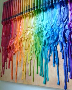 Melted Crayon Art - let dry in between layers to create 3D effect by margot graham