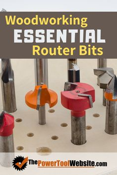 Woodworking router bits are useful for all kinds of cool things for your wood projects. Make sure you invest in these essential router bits to get the most from your router. | The Power Tool Website | #routerbits #routerwoodworking Woodworking Router Bits, Best Woodworking Tools, Woodworking Techniques, Easy Woodworking Projects, Diy Your Furniture, Flush Trim Router Bit, Woodworking Essentials, Tool Website, Cornhole Designs