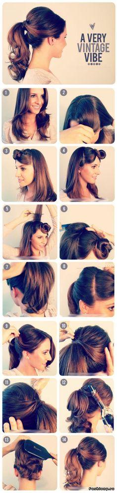 Retro style ponytail