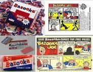 Collecting the comics from Bazooka bubble gum