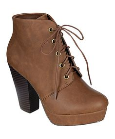 Brown Huxley Bootie on Zulily