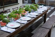 Summer Entertaining: A Watermelon Party with Annie Campbell - The Decor - Rip & Tan