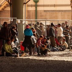 Customs And Border Protection Agency Holding Detained Migrants Under Bridge In El Paso