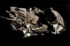 Alien: The history of the Nostromo, by Ron Cobb Sf Movies, Fiction Movies, Saga Alien, Nostromo Alien, Science Fiction, Alien Resurrection, Alien 1979, Sci Fi Spaceships, Den Of Geek
