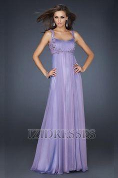 A-Line/Princess Straps Chiffon Prom Dress - IZIDRESSES.COM at IZIDRESSES.com