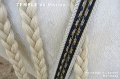 Horse hair hand braided leather belt