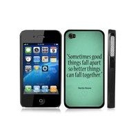 Amazon.com: Marilyn Monroe Cute Inspirational Quote Snap-On Cover w/ Black Hard Carrying Case for iPhone 4/4S: Cell Phones & Accessories