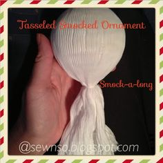 sew along to learn how to smock a Christmas ornament.