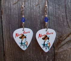Navy Classic Pin Up Girl Guitar Pick Earrings with Blue Swarovski Crys – SimplyRaevyn Military Jewelry, Guitar Pick Jewelry, Girls Jewelry, Pin Up Girls, Clip On Earrings, My Ebay, Navy And White, Swarovski Crystals, Classic