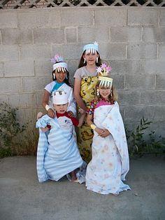 Dressing up as Mesopotamian royalty.