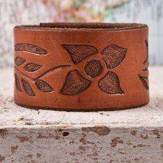recycled belt bracelet