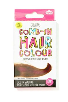 NPW Comb-In Hair Colour - Pink