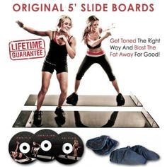 The Obsidian Slide Board Workout System has helped thousands of people reach their fitness and training goals. Over 100 possible workouts to help you tone and strengthen those tired muscles.  The included DVDs, led by Erin and Lacey, combine full body cardio & muscle building workouts that are easy to learn and fun to do.  Also included are the premium slide mitts & booties so you can start sliding immediately after receiving the Obsidian Slide Board in the mail.  No time wasted on i...