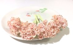 50 Mini Shabby Pink Gypsophila Mulberry Paper Flowers Wedding Card Scrapbook M #Handmade