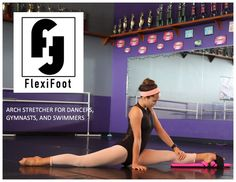 FlexiFoot.  The newest most advance foot stretcher on the market today. Unique comfort heel and StretchLock band makes this the most comfortable and efficient training tool.  Exclusively at All About Attitude Dancewear