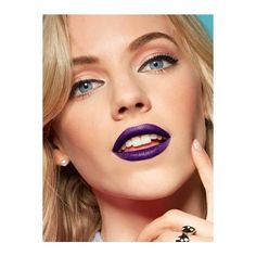 HOW TO WEAR PURPLE LIPSTICK ❤ liked on Polyvore featuring beauty products, makeup, lip makeup and lipstick