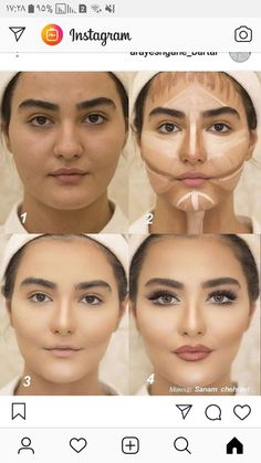 Techniques contouring Counturing Power of makeup P. - Techniques contouring Counturing Power of makeup Power of Makeup - # makeup techniques contouring Face Makeup Tips, Eyebrow Makeup, Skin Makeup, Eyeshadow Makeup, Eyeliner, Makeup Contouring, Highlighting Contouring, Beauty Makeup, Contouring Round Face