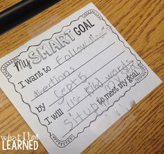 Student Goal Setting in Elementary School - nice tips and a freebie from Jessica of What I Have Learned
