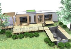 Eco Pig Designs is a micro home design company that is about to begin construction on a new 40/45 foot shipping container home called the SCH-1. Description from inhabitat.com. I searched for this on bing.com/images