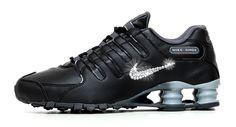 f309a02768d5 Nike Shox Avenue + Swarovski Crystal Rhinestone Swoosh - Black