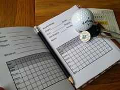 Father's Day Gift, Leather Golf Score Cards, Leather golf log, Golfing log, leather golf book, golf gift, personalised golf gift, mid brown by BespokeBindery on Etsy