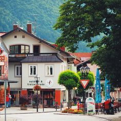 Germany.Bavaria. Oberammergau. On the street.Center.