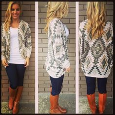 Aztec over-sized cardigan. Love it !