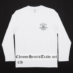 f438252631ee BS Flare Scroll White Chrome Hearts T-shirt Cheap  Chrome Hearts T-Shirt