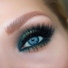 BLUE GREEN EYE SHADOW | HALO EYE LOOK | ABH SUBCULTURE PALETTE TUTORIAL