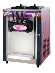 Desktop three-color soft ice cream machine ice cream ice cream machine cones machine
